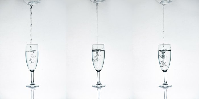 A glass photography photo session setup