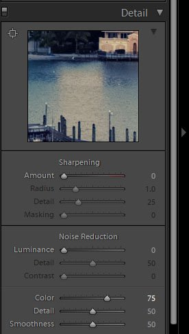 screenshot of how to remove color noise in Lightroom