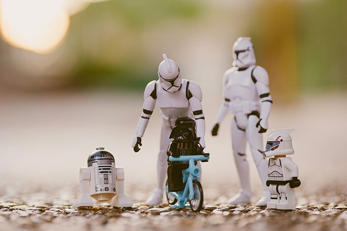 A star wars toy photography photo shoot