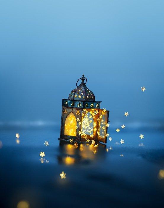 A magical floating lantern
