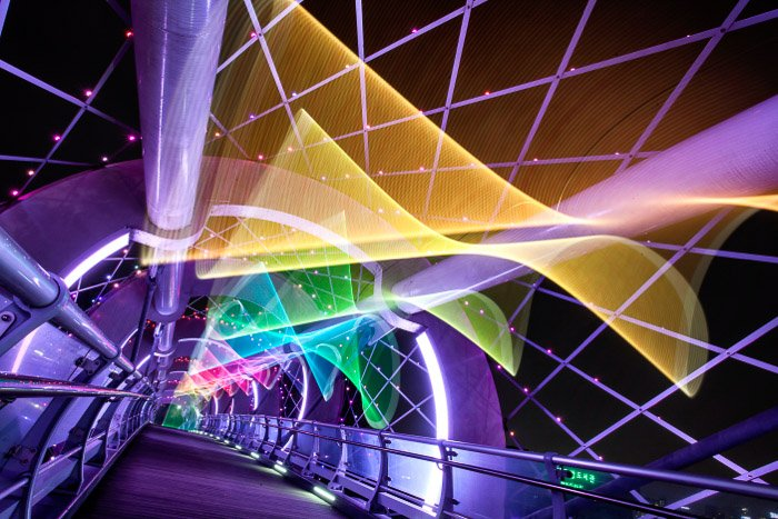 Colorful architecture photography at night