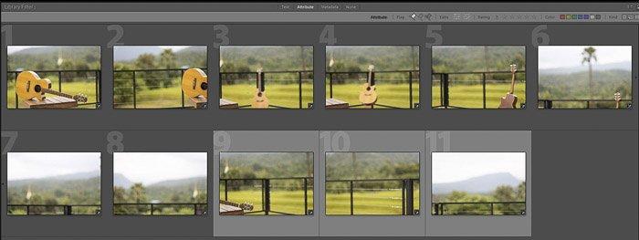 A screenshot of how to create a brenizer effect panorama