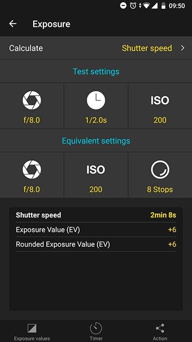 Photopills app screenshot