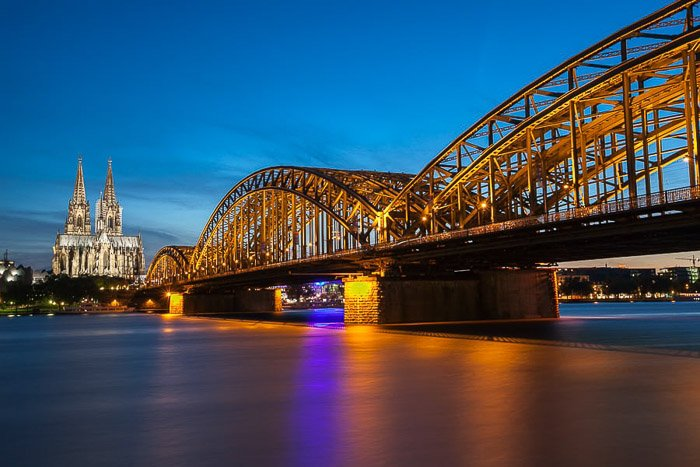 Cologne City Skyline photography at night