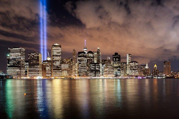 Stunning shot of New York City Skylines at night