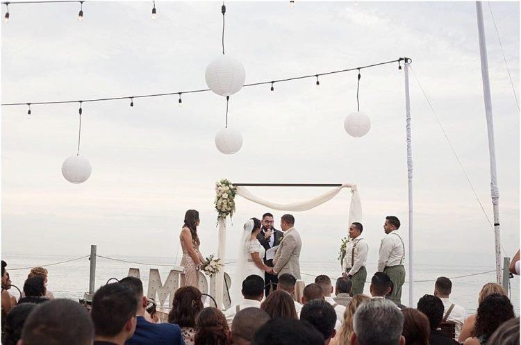An outdoor destination wedding service