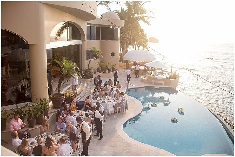 wedding celebrations at a poolside