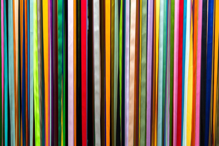 A brightly colored abstract photography example with an emphasis on line