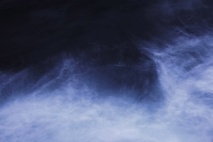 Atmospheric abstract photography shot with a slow shutter speed