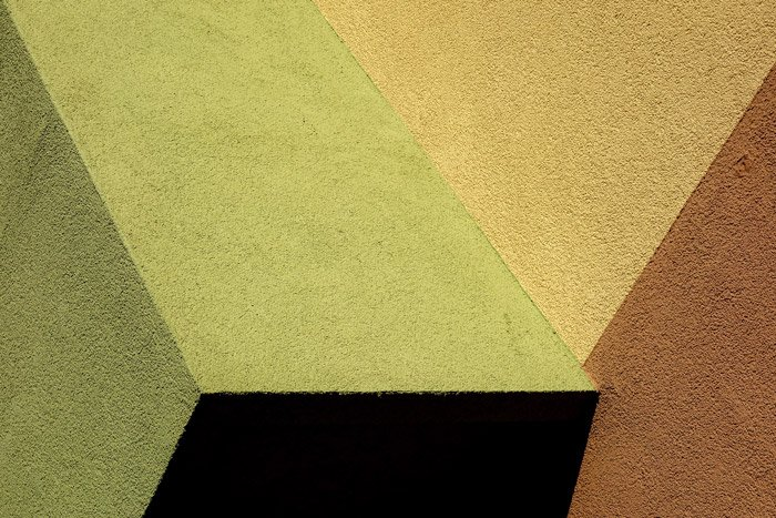 An abstract photography featuring color, texture and shape