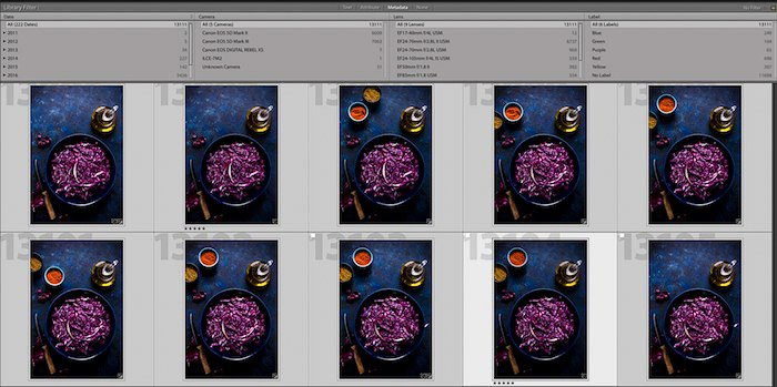 Screenshot of how to make a Lightroom contact sheet