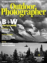 The front cover of outdoor photographer magazine