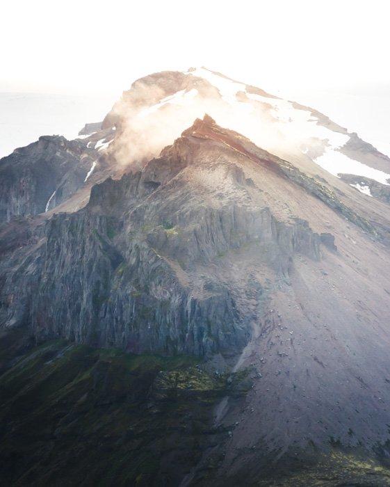 A stunning mountainous landscape shot using a teleconverter