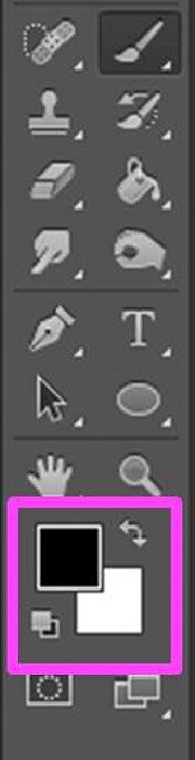 a screenshot showing how to select brush color in Photoshop