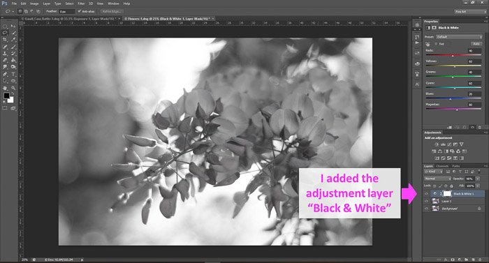 a screenshot showing how to edit photos in Photoshop for beginners, with an arrow pointing to layers panel