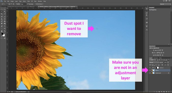 a screenshot showing how to remove unwanted objects in Photoshop