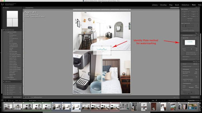 A screenshot showing how to create a photo collage Lightroom