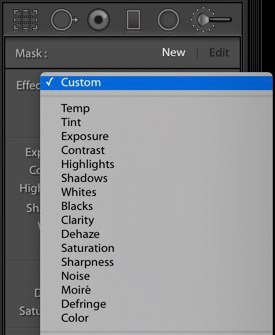 A screenshot of how to use brushes and masks in Lightroom
