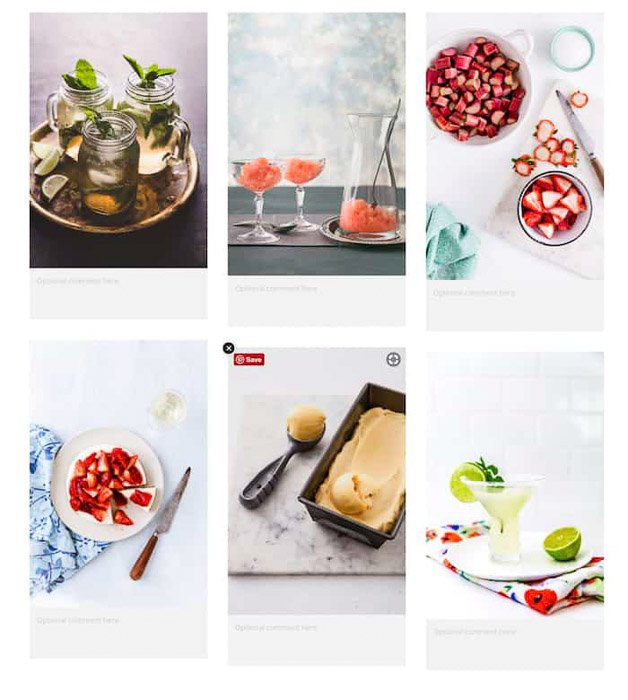 a bright and airy photography moodboard example