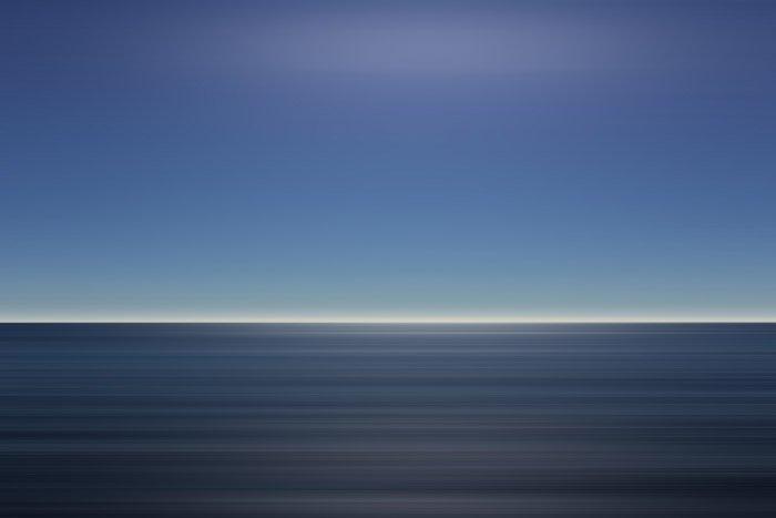 A long exposure minimal seascape shot