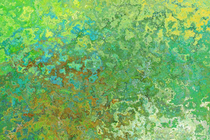 Abstract pattern of green, blue and yellow tones