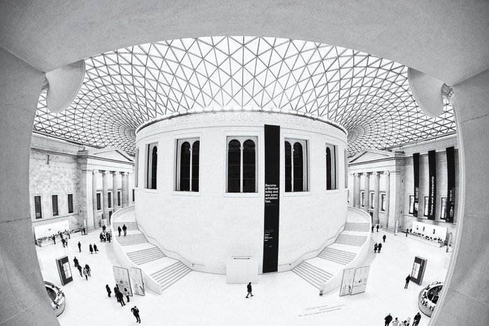 Interior shot of the British Museum - best photo spots in London