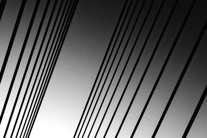 An abstract black and white architecture shot