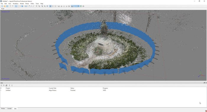 A screenshot showing how pair preselections to create a 3d model from photos using agisoft photoscan