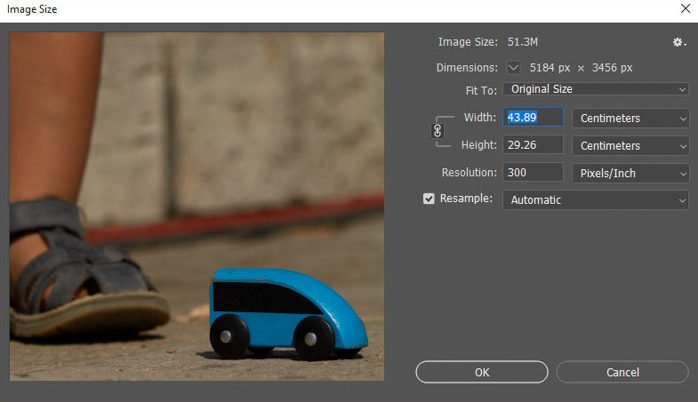A screenshot showing how to enlarge photos for printing