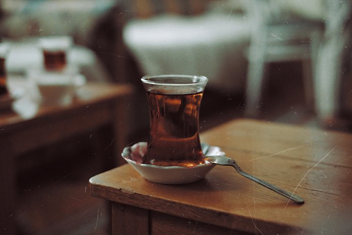 A still life with a scratchy film photography look