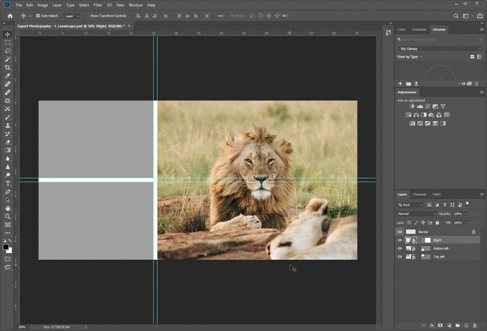 A screenshot showing how to use Free Photoshop Collage Templates