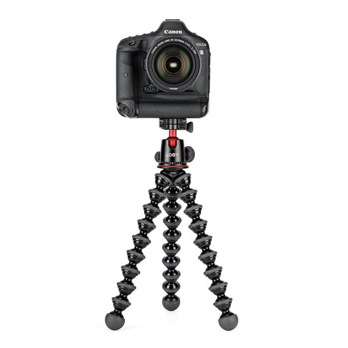 A Canon dSLR on a Joby Gorillapod