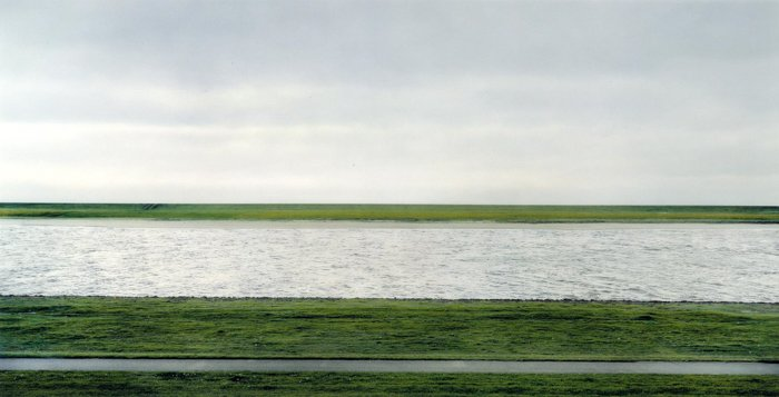 The Rhine II 1999 Andreas Gursky, most expensive photos