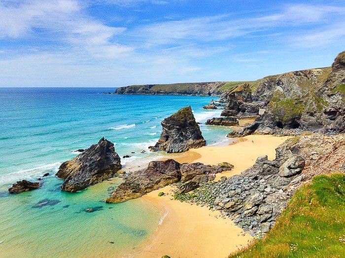 A stunning coastal seascape on a clear day