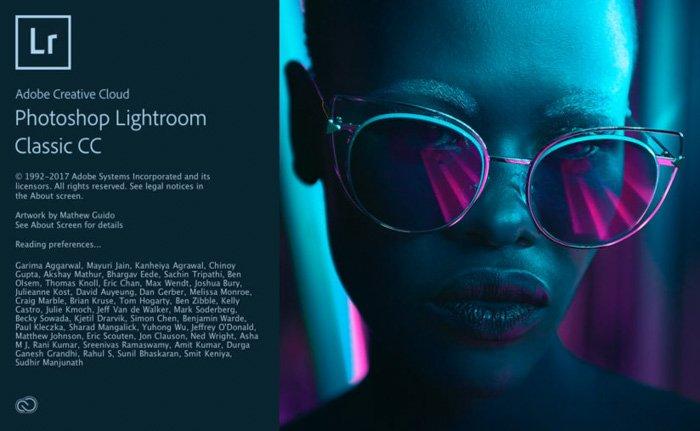 A screenshot of Adobe Lightroom homepage