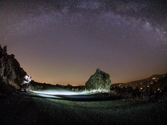 A man taking some Milky Ways shots.