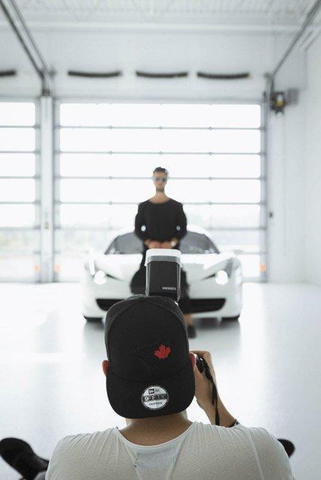 A photoshoot using a ttl flash