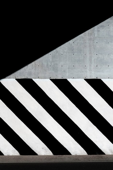 An abstract street photography shot demonstrating contrast - principles of design in photography