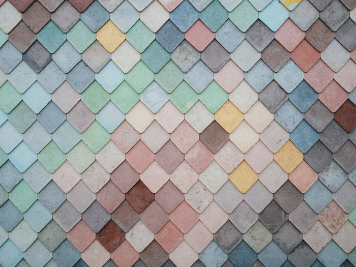 Pastel colored patterned tiles - principles of design in photography