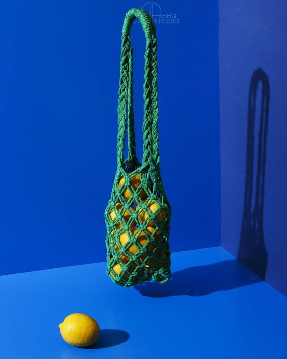 A still life with emphasis on contrasting colors yellow and blue