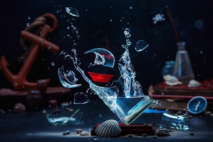 A magical still life composition highlighting use of contrasting colors in photography