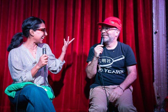 Shonali Bhowmik and H Jon Benjamin at WDEK Podcast Ep. 59. Event photography jobs