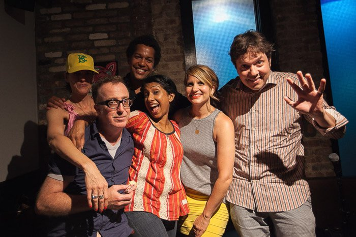 Guests of Episode 33 of WDEK Podcast: Dave Hill, Brooke Van Poppelen and Ambrosia Parsley with hosts Christian Felix and Shonali Bhowmik.