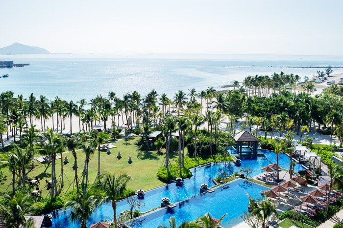 Aerial view of a Asian Resort Hotel