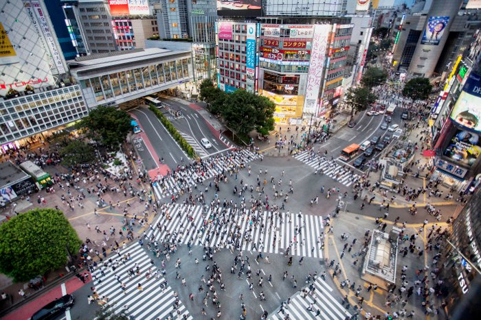 Aerial view of a bustling cityscape - tokyo japan photography