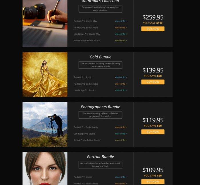 PortraitPro pricing options