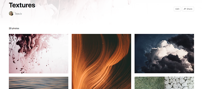 A screenshot of texture images available on unsplash - how to
