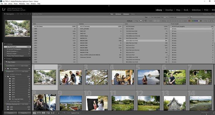 A screenshot of editing photos in Lightroom