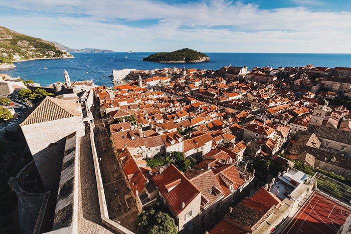 An aerial cityscape of Dubrovnik, Croatia - best european cities to visit
