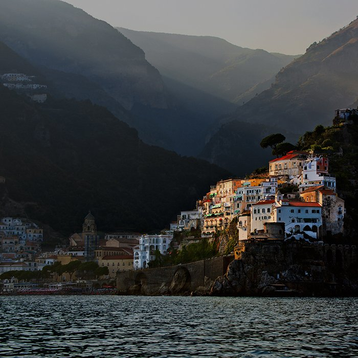 A beautiful coastal shot of Amalfi, Italy - most beautiful places in europe